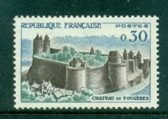 France 1960 30c Fourgeres Chateau MLH lot49344
