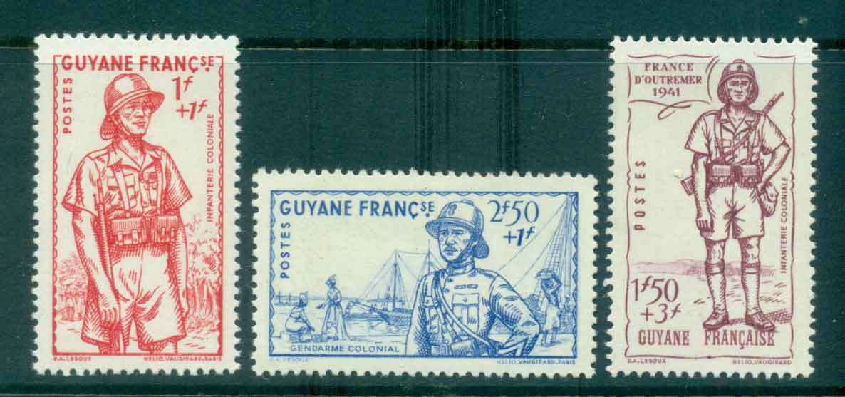French Guiana 1941 Vichy Issue MUH lot49473