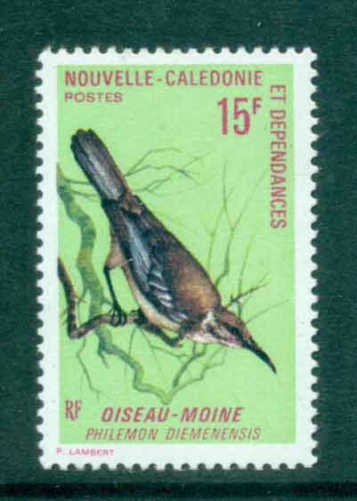 New Caledonia 1970 15f Bird Friarbird MUH Lot49573