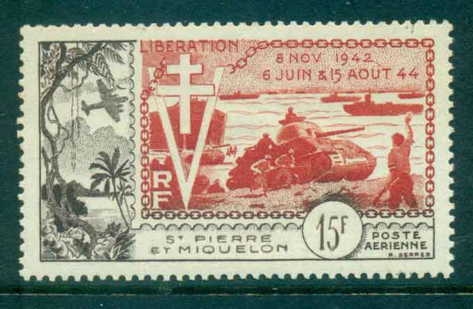 St Pierre & Miquelon 1954 Liberation MLH Lot49802