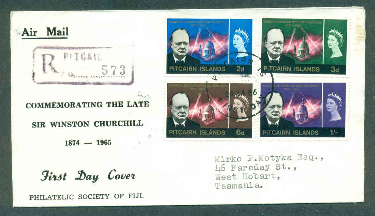 Pitcairn Is 1966 Churchill FDC lot50417