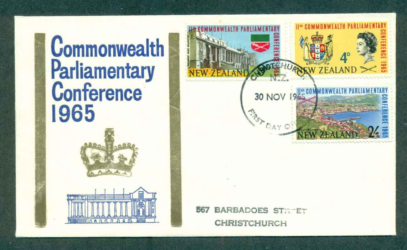 New Zealand 1965 Parliamentary Conference FDC lot50447