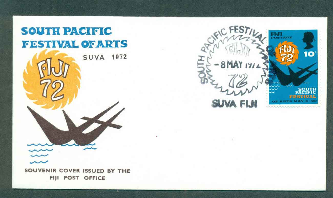 Fiji 1972 South Pacific Arts Festival FDC lot50475