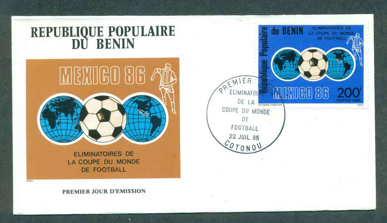 Benin 1985 World Cup FDC lot50495