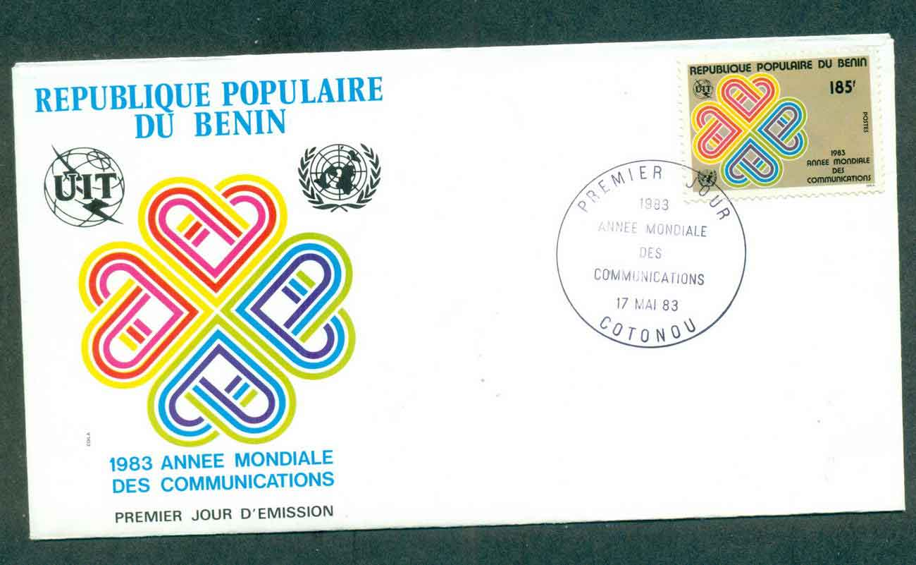 Benin 1983 World Communication Year FDC lot50496