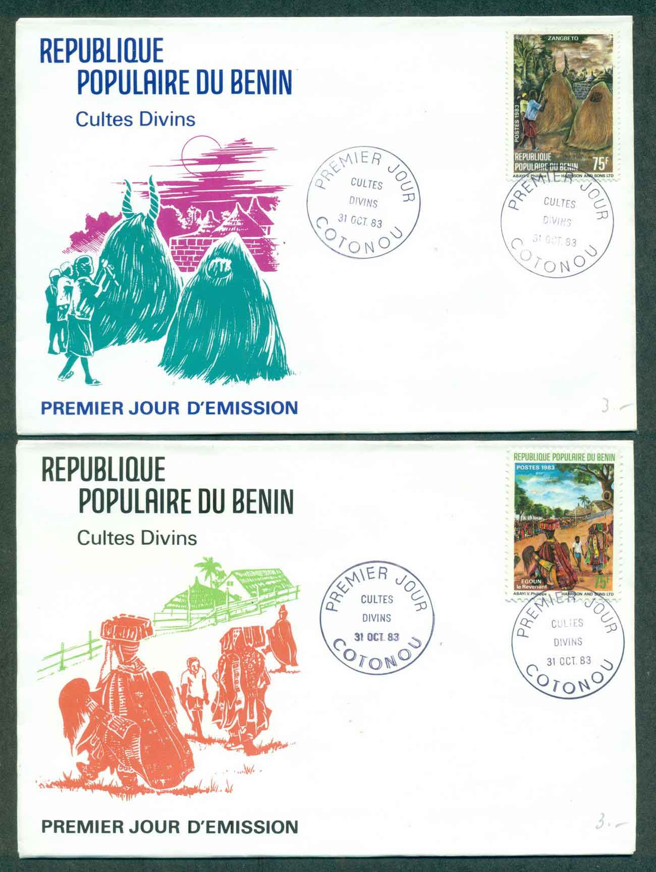 Benin 1983 Religious Cults 2xFDC lot50498