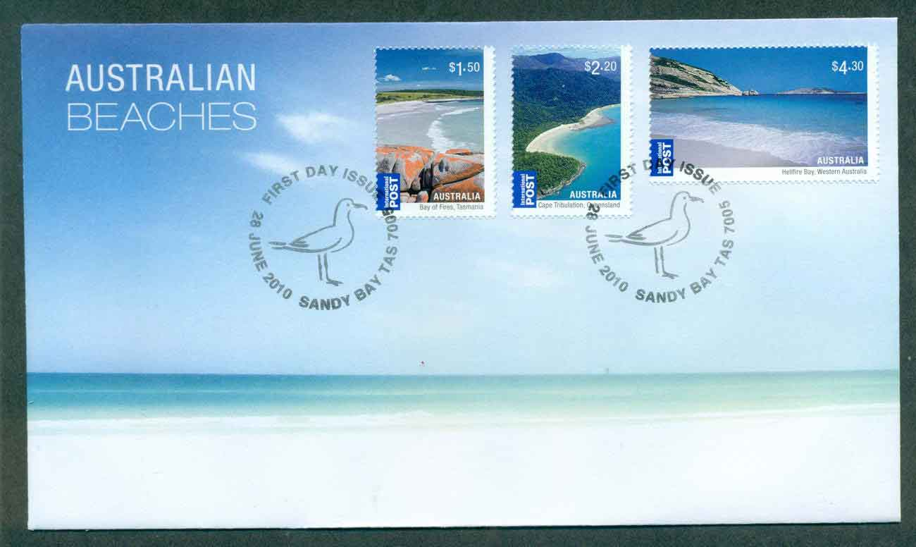 Australia 2010 Australian Beaches FDC lot50616