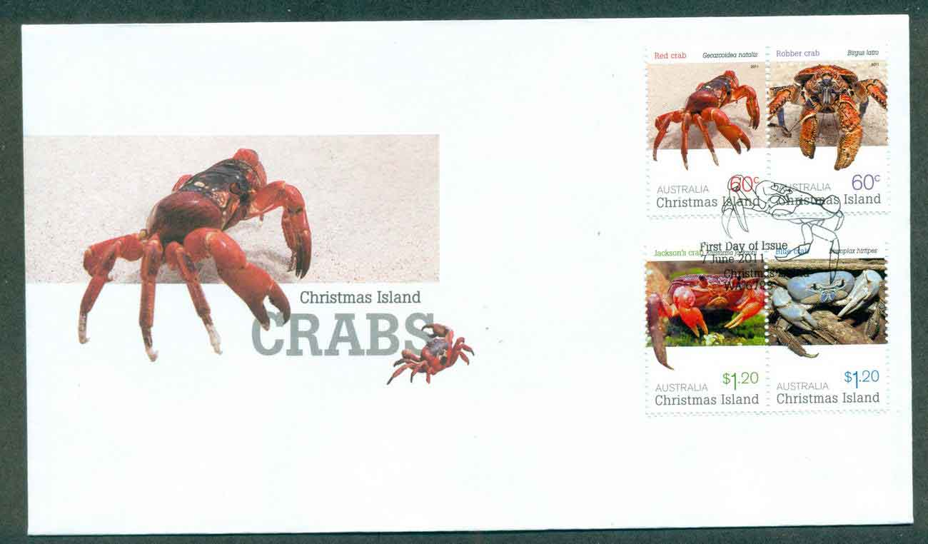 Christmas Is 2011 Crabs FDC lot50635 - Click Image to Close