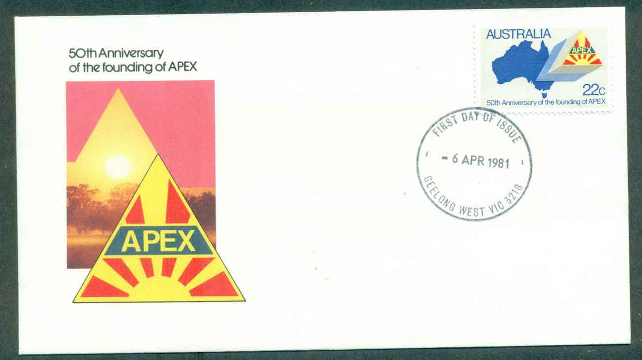 Australia 1981 APEX, Geelong West FDC lot50690