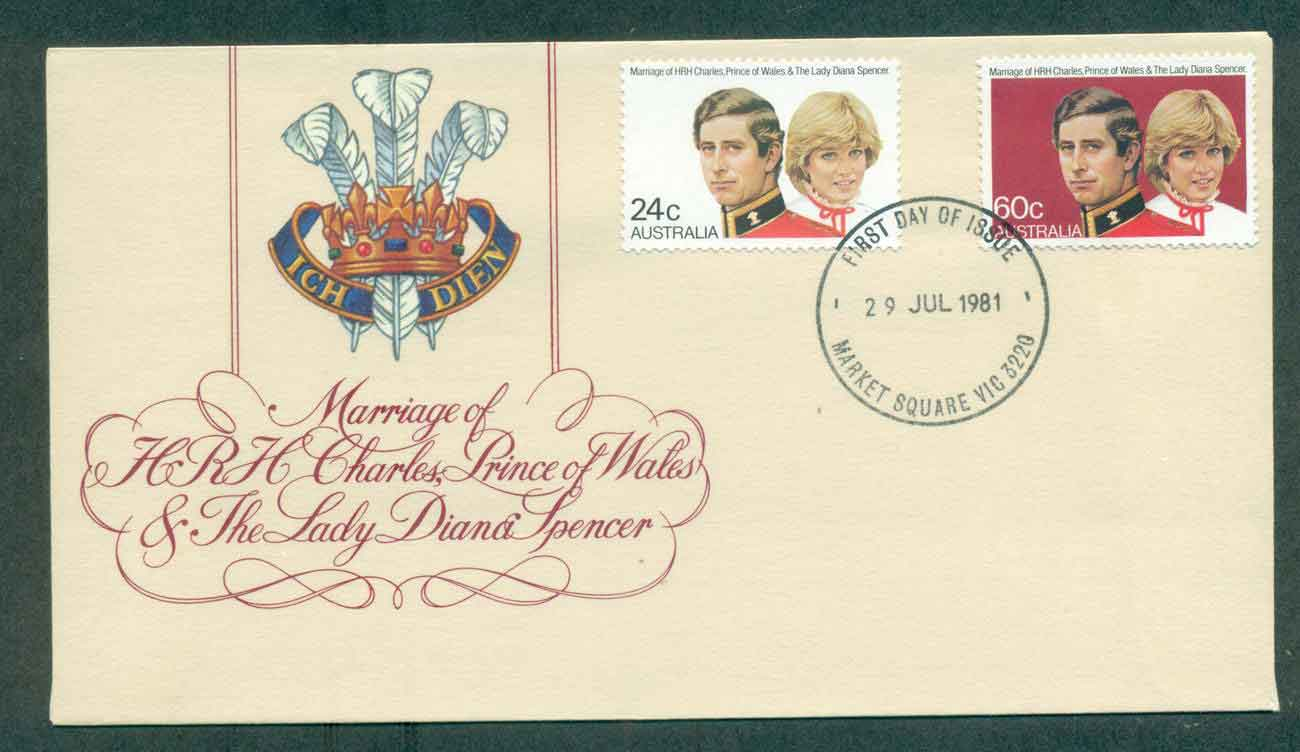 Australia 1981 Charles & Diana Wedding, Market Sq FDC lot50693