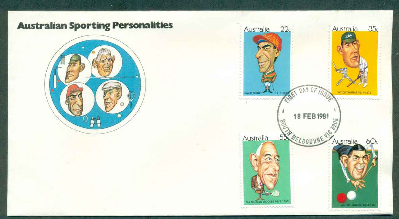 Australia 1981 Australian Sporting Personalities, South Melbourne FDC lot50702