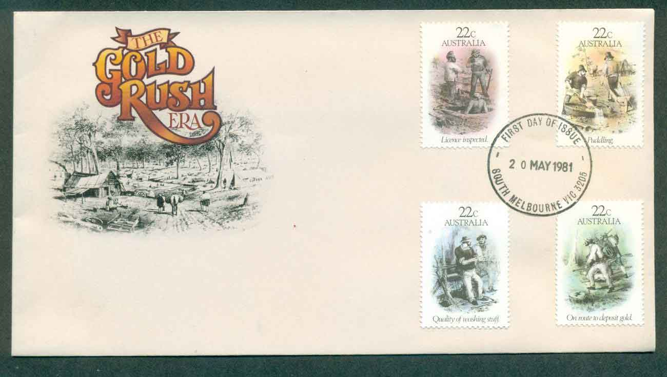 Australia 1981 Gold Rush Era, South Melbourne FDC lot50703