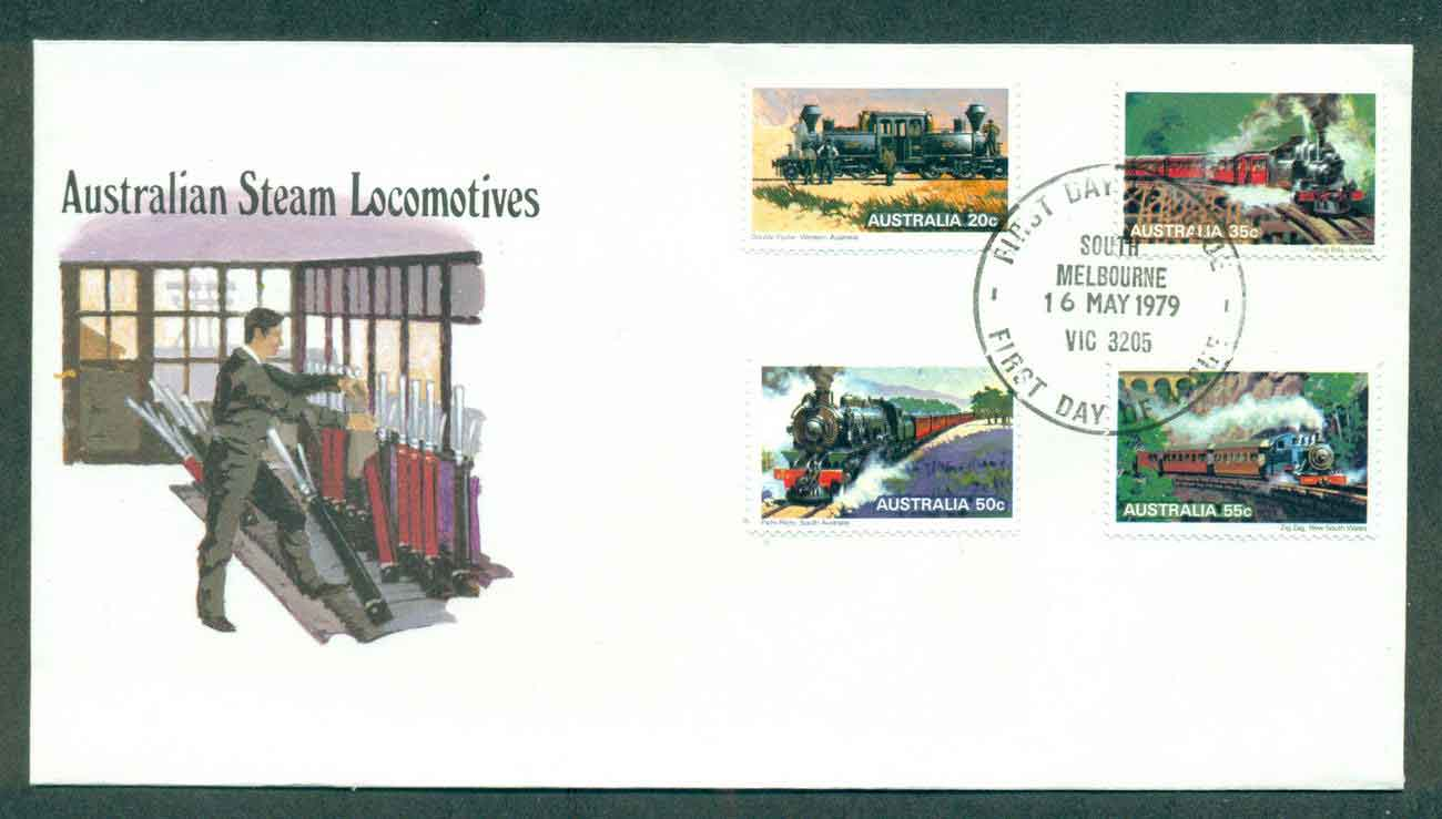 Australia 1979 Steam Trains,South Melbourne FDC lot50815