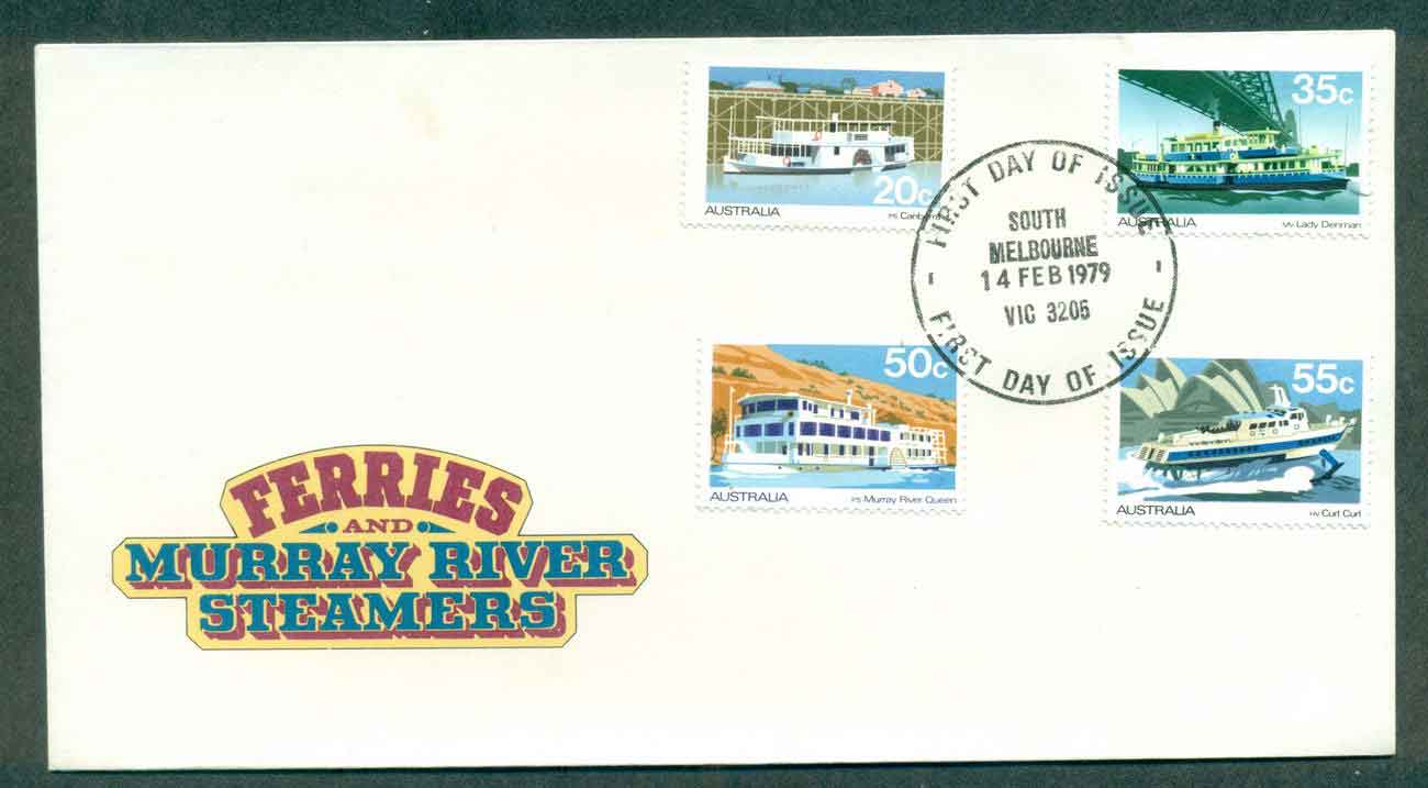 Australia 1979 Ferries & Murray River Steamers, South Melbourne FDC lot50817