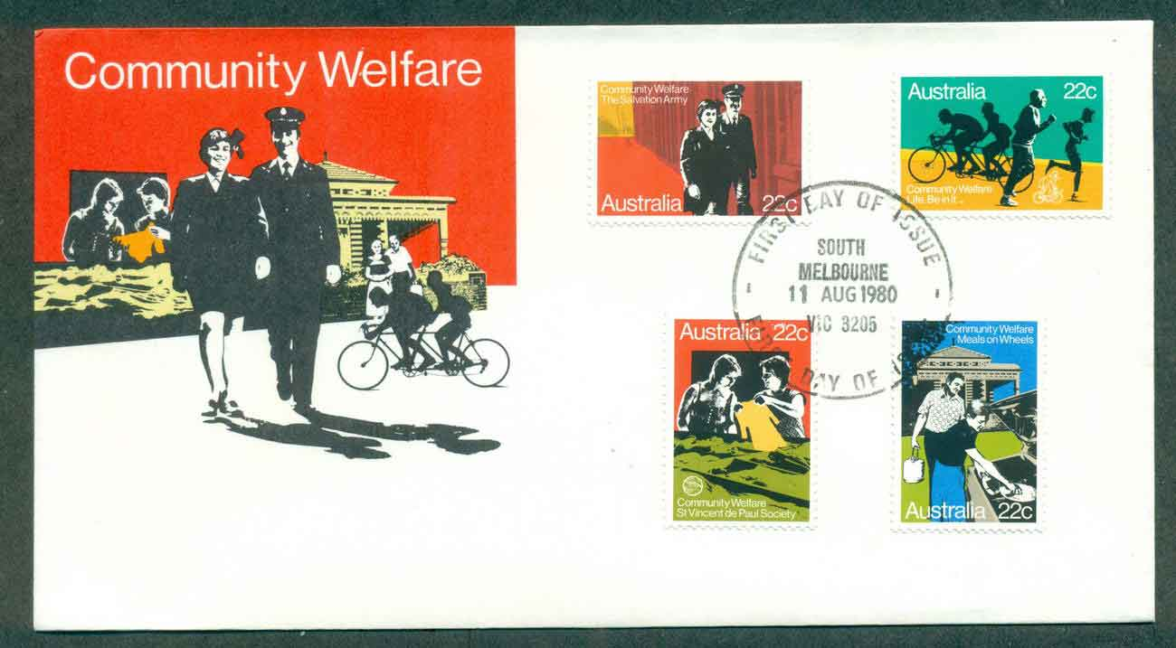 Australia 1980 Community Welfare, South Melbourne FDC lot50822
