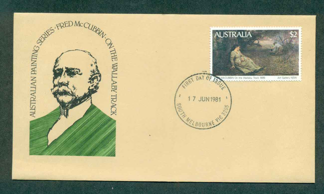 Australia 1980 $2 Painting, McCubbin, South Melbourne FDC lot50824