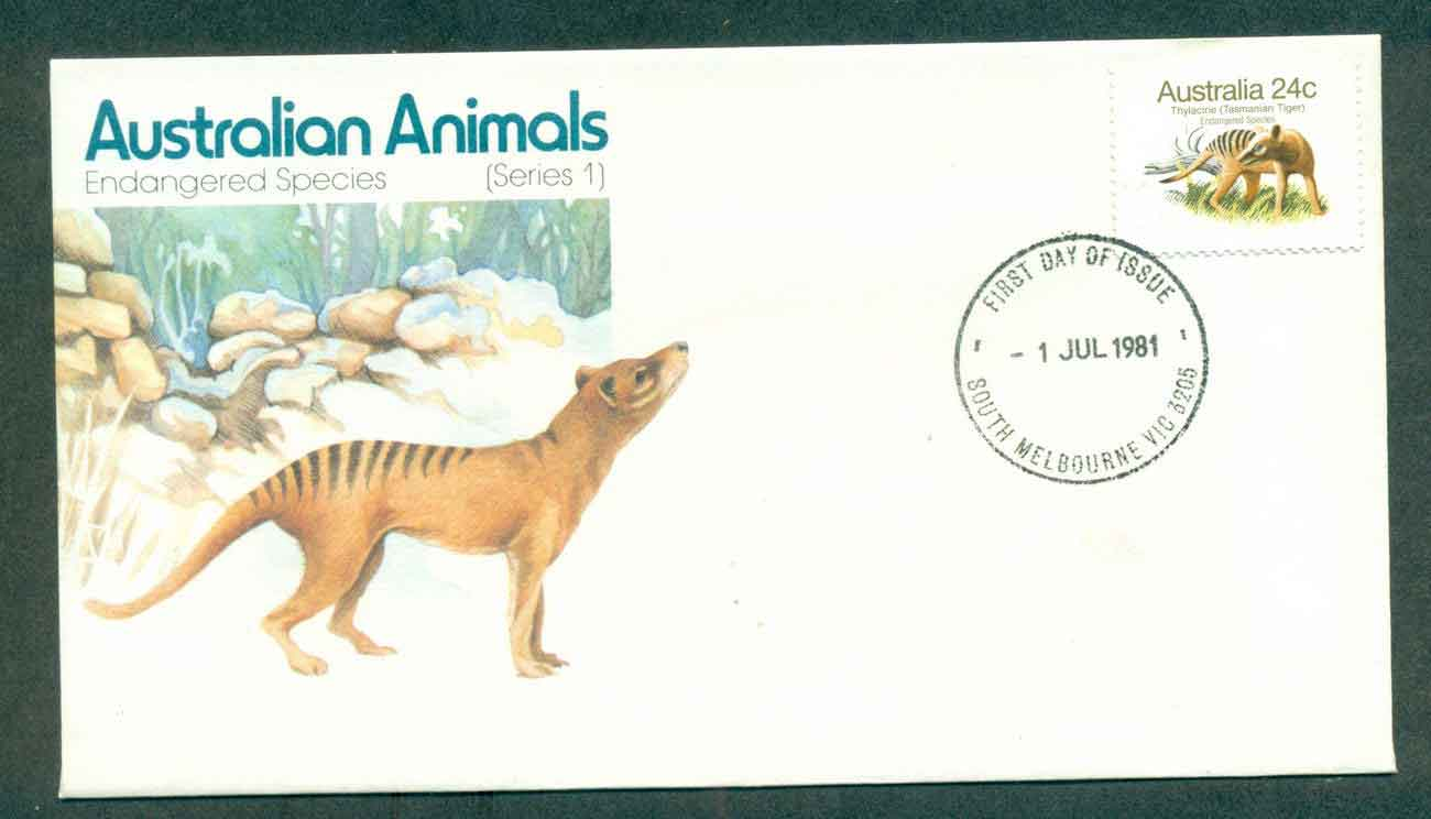 Australia 1980 24c Endangered Species Series I, South Melbourne FDC lot50825