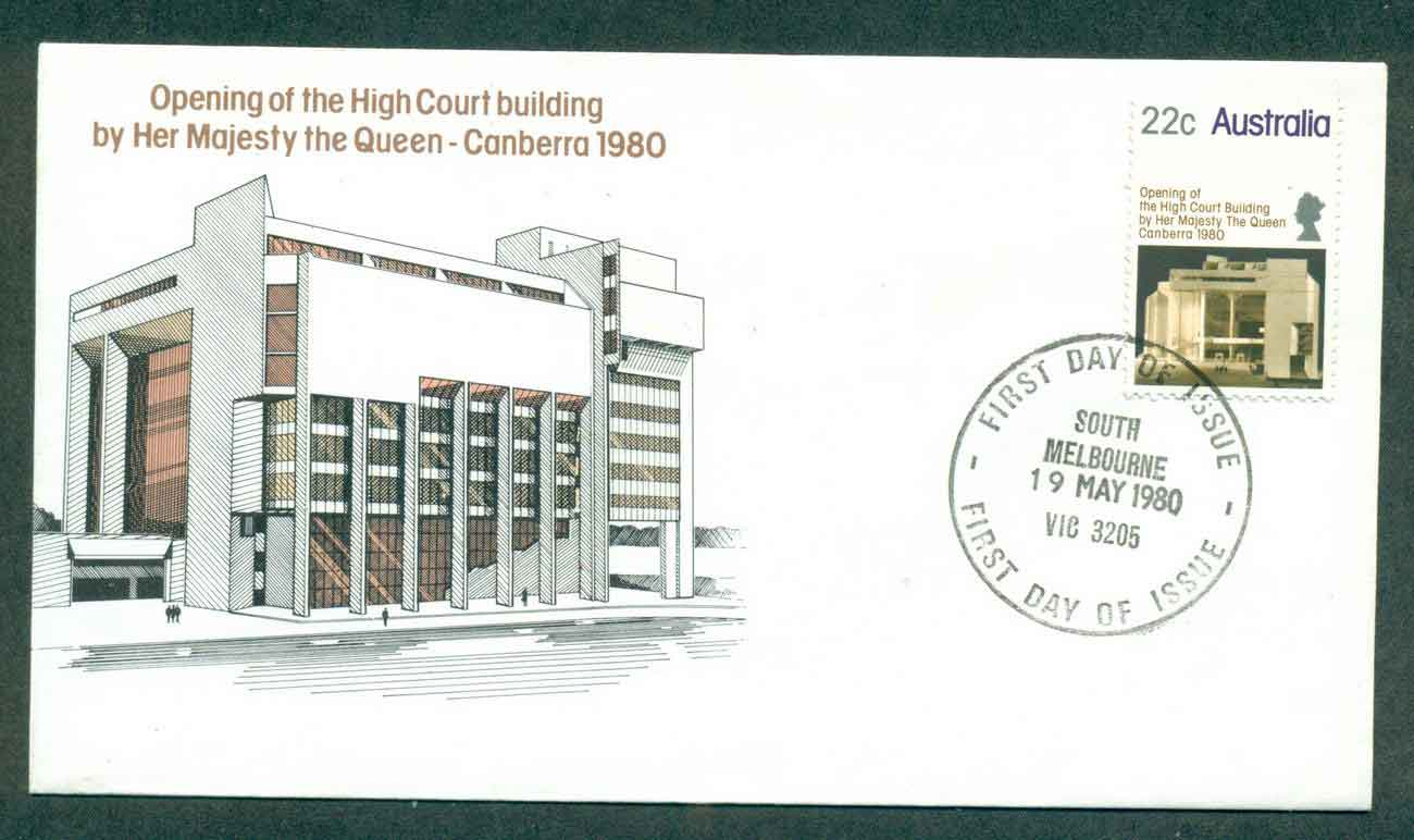Australia 1980 High Court, South Melbourne FDC lot50826