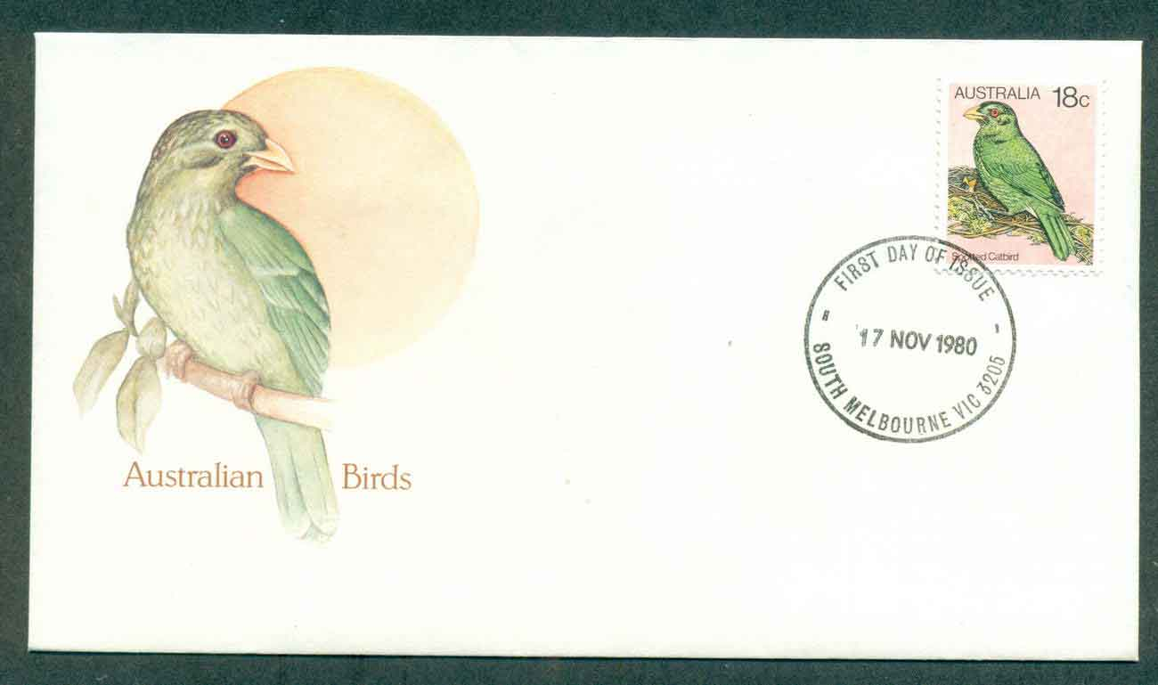 Australia 1980 Birds 18c, South Melbourne FDC lot50827