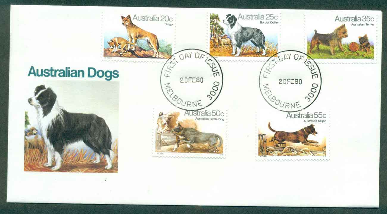 Australia 1980 Dogs, Melbourne FDC lot50830