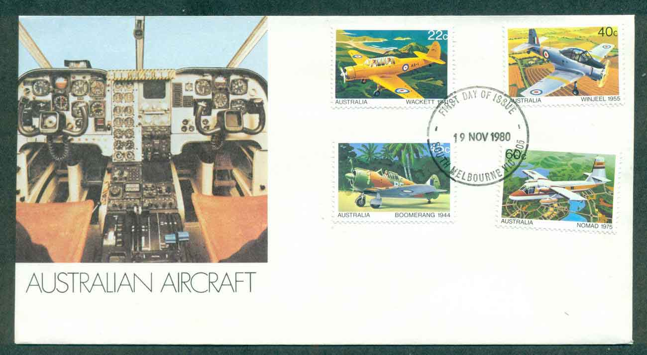Australia 1980 Australian Aircraft, South Melbourne FDC lot50831