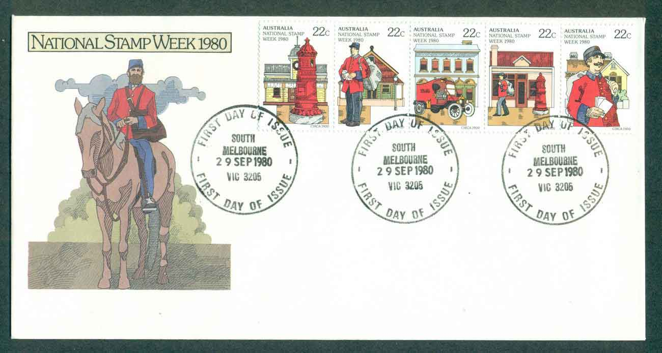 Australia 1980 National Stamp Week, South Melbourne FDC lot50833