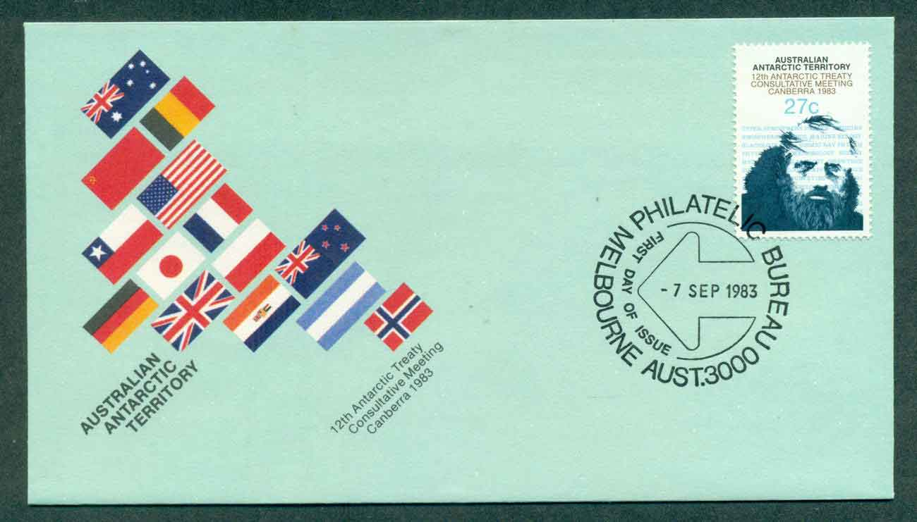 AAT 1983 Antarctic Treaty, Melbourne FDC lot50868