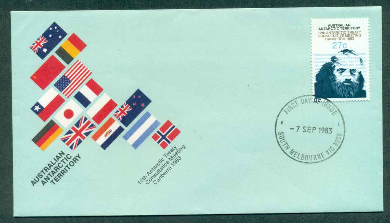 AAT 1983 Antarctic Treaty, South Melbourne FDC lot50870