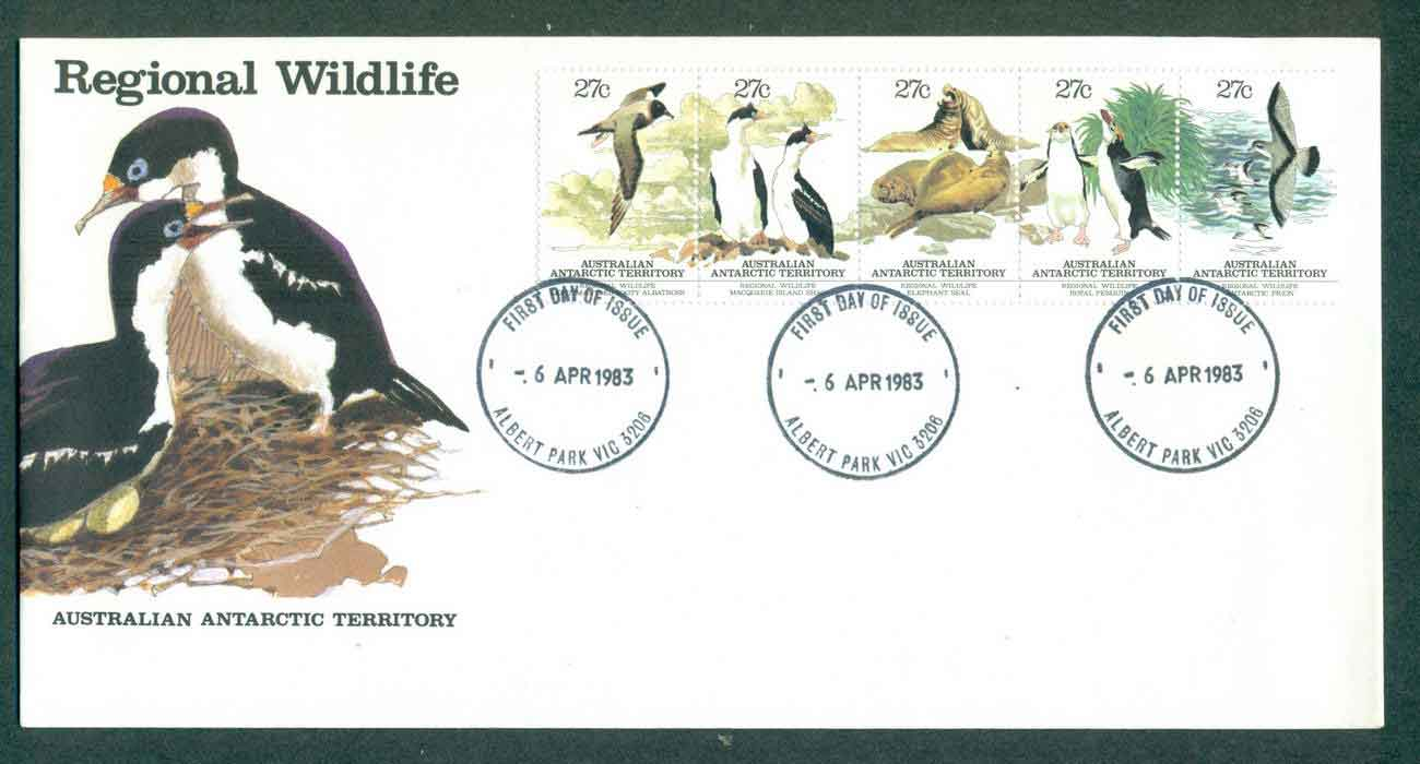 AAT 1983 Regional Wildlife Srt 5, Albert park FDC lot50871