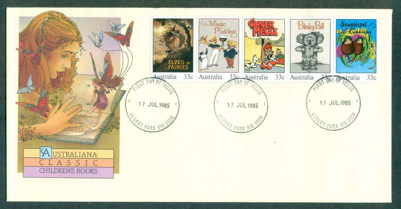 Australia 1985 Children's Books Str 5, Albert Pk FDC lot50904