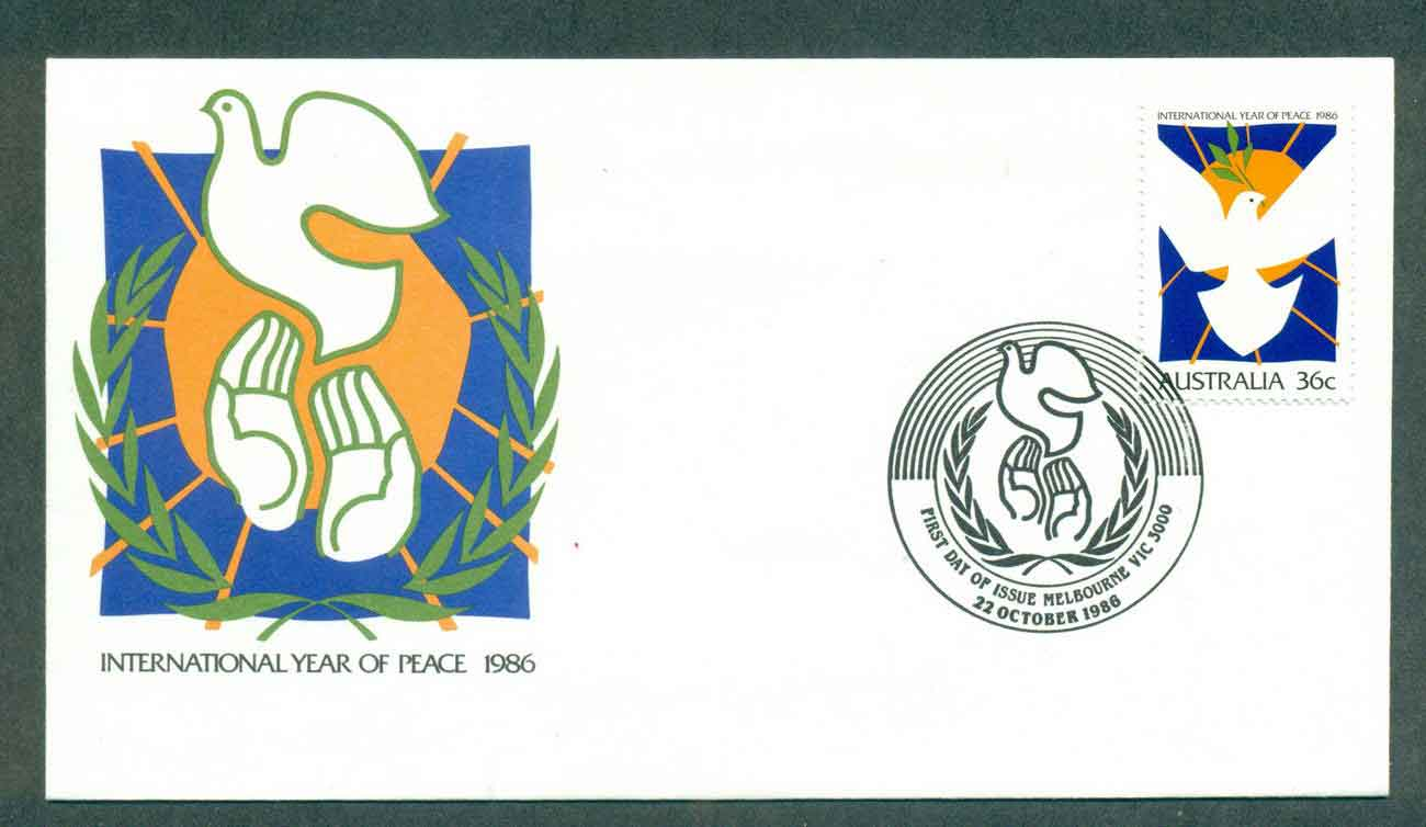 Australia 1986 Intl. Year of Peace, Melbourne FDC lot50944