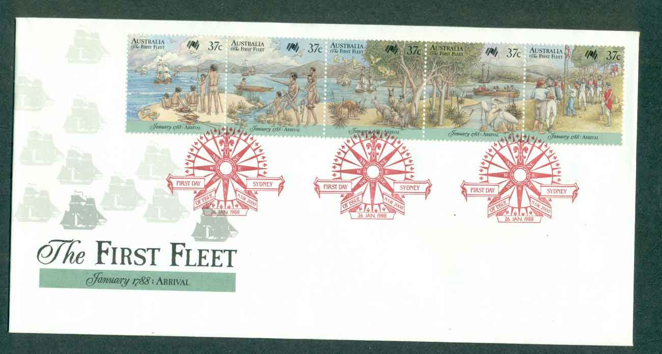 Australia 1988 The First Fleet Arrival, Sydney FDC lot50995