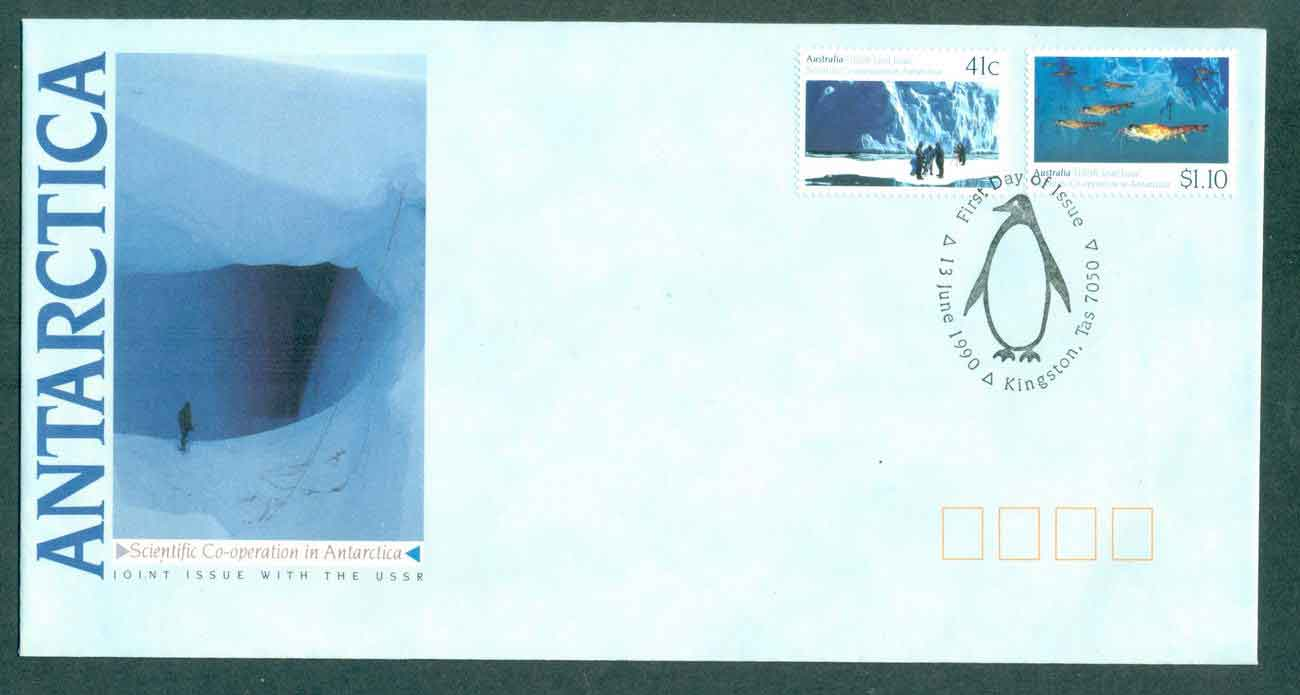 AAT 1990 Scientific Co-operation in Antarctica, Kingston TAS FDC lot51036