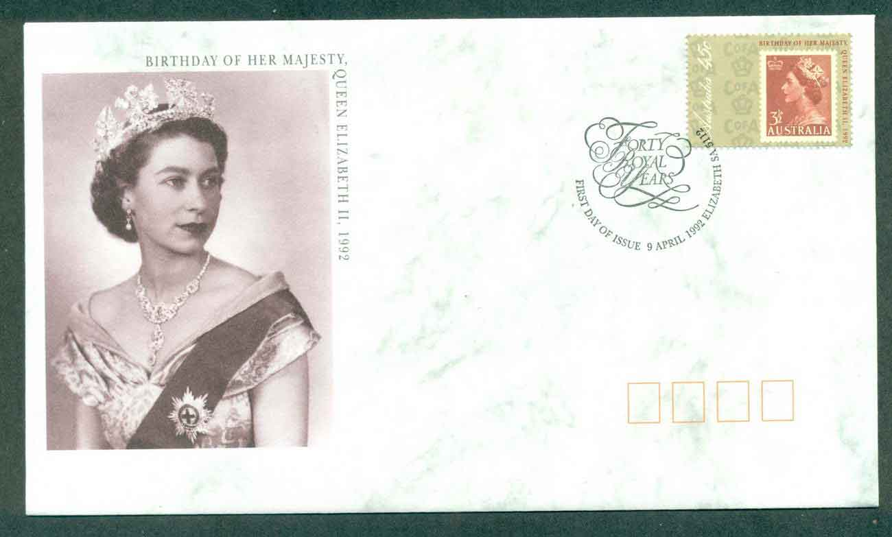 Australia 1992 Queen's Birthday, Elizabeth SA FDC lot51079