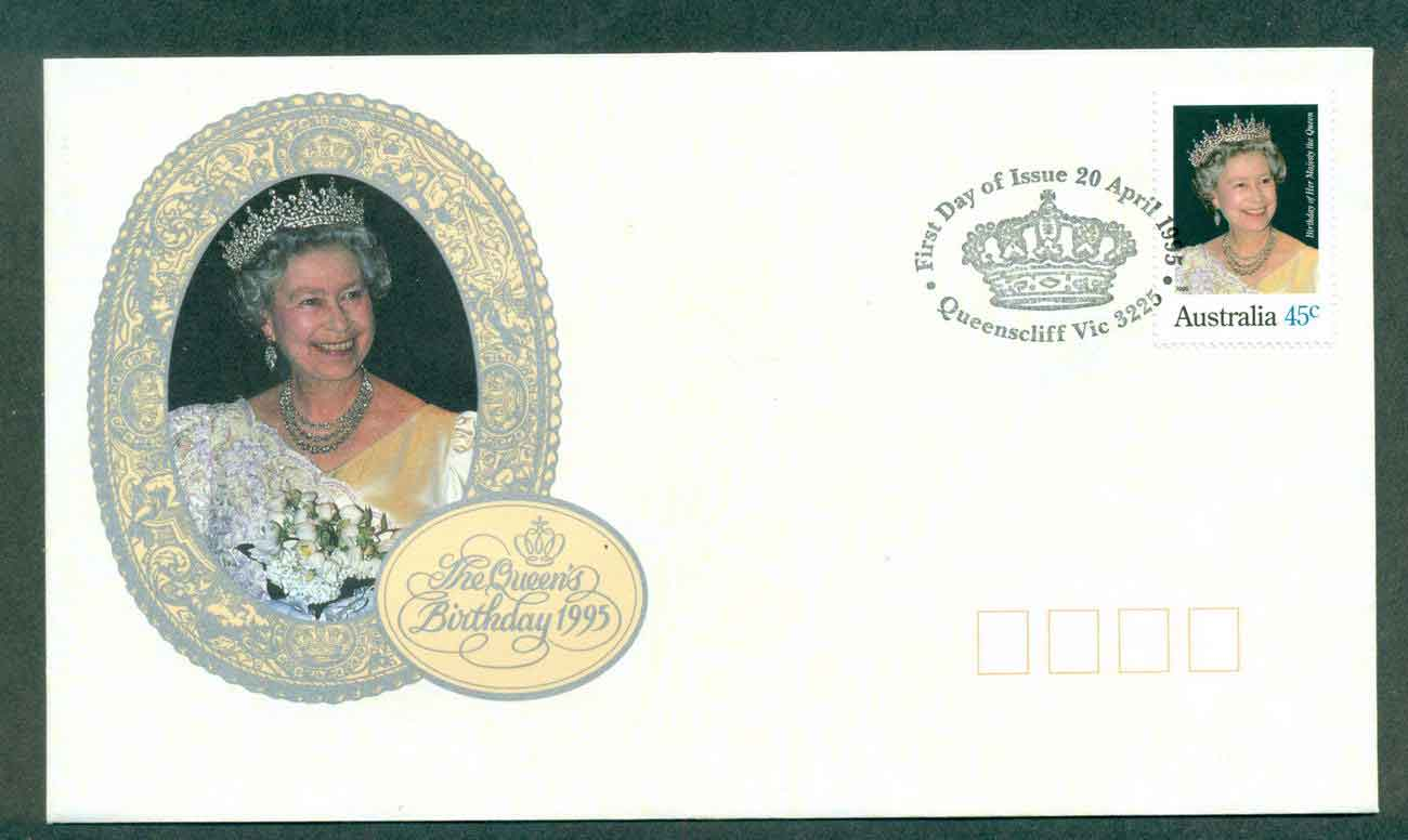 Australia 1995 Queen's Birthday, Queenscliffe FDC lot51160