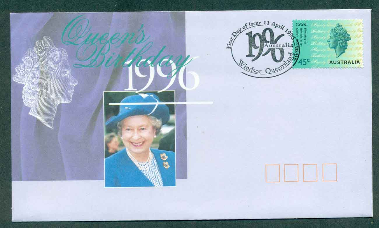 Australia 1996 Queen's Birthday, Windsor FDC lot51198
