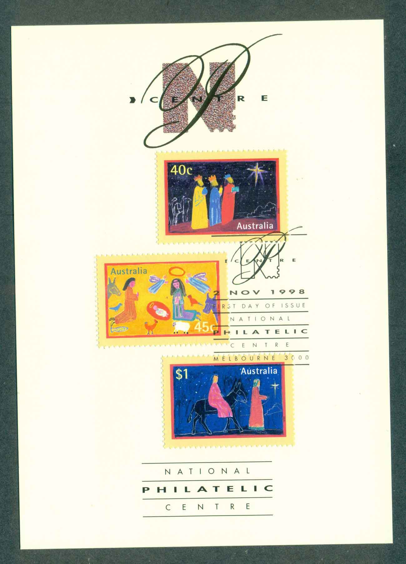Australia 1998 Xmas Philatelic card, NPC FDC lot51216