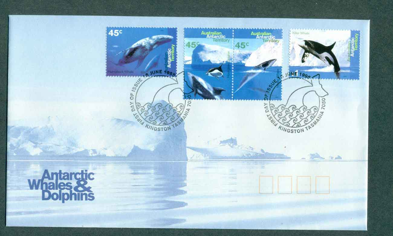 AAT 1995 Whales & Dolphins, Kingston FDC lot51236