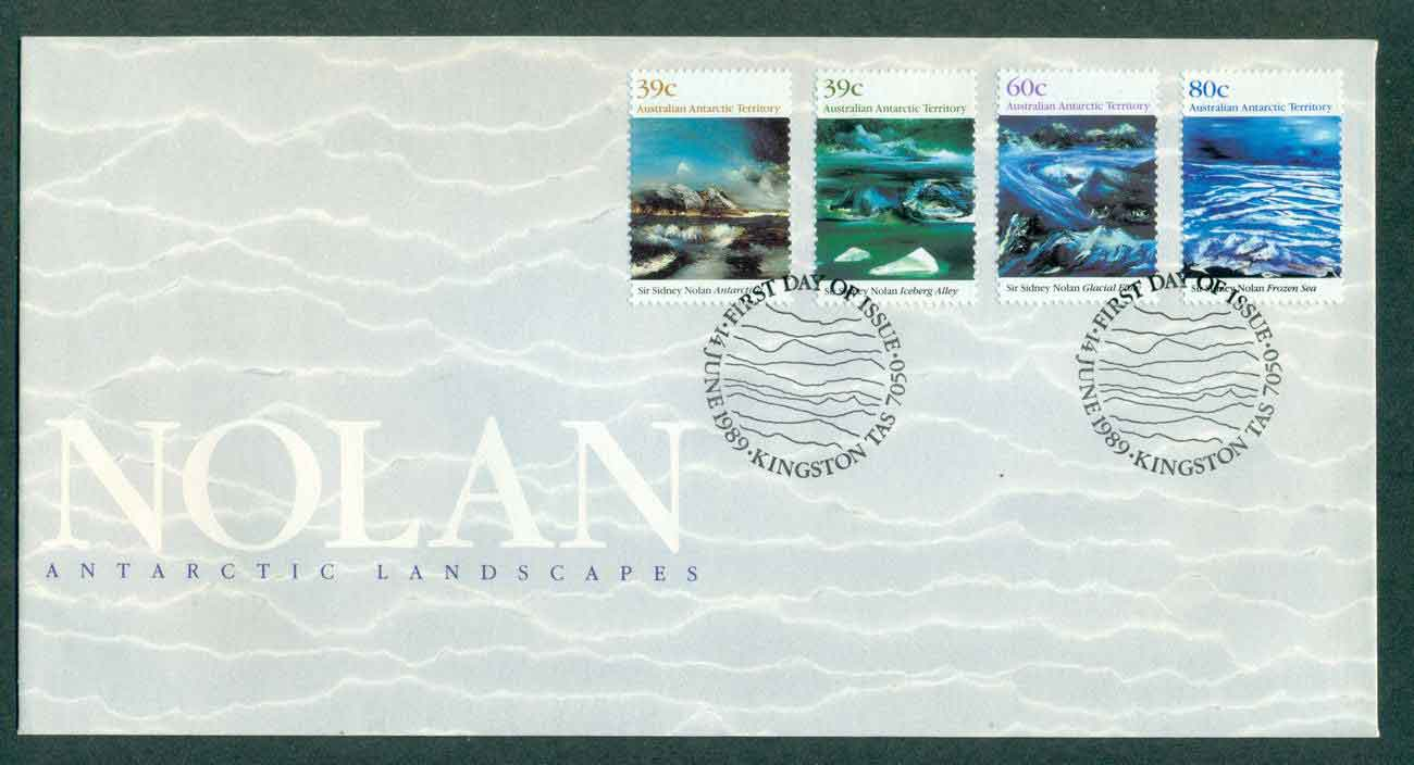 AAT 1990 Antarctic Landscapes Nolan, Kingston FDC lot51237