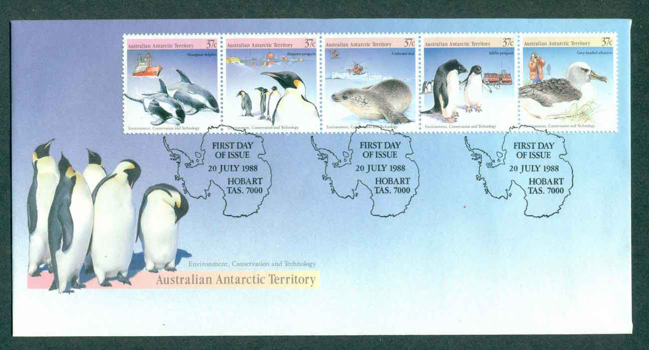 AAT 1988 Environment & Conservation Str 5, Hobart FDC lot51238