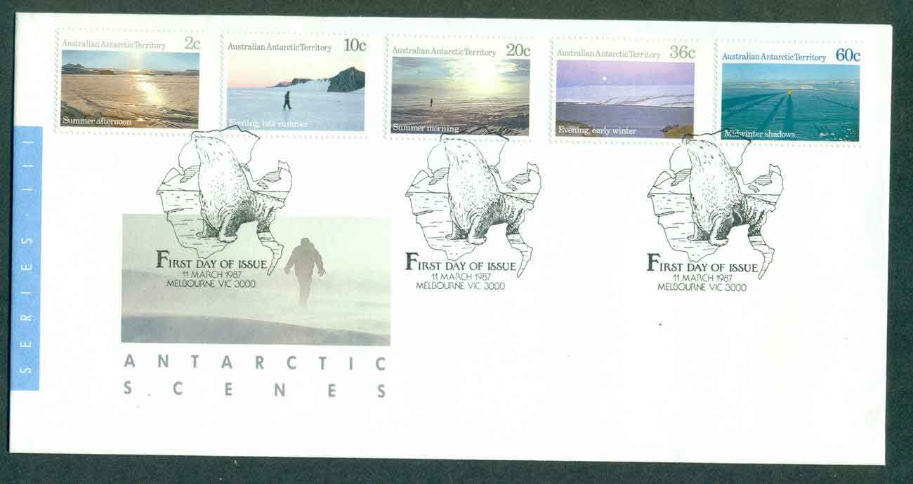 AAT 1987 Antarctic Scenes, Melbourne FDC lot51240
