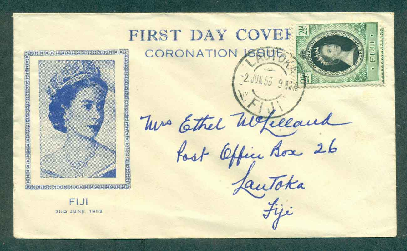 Fiji 1953 Coronation FDC lot51362
