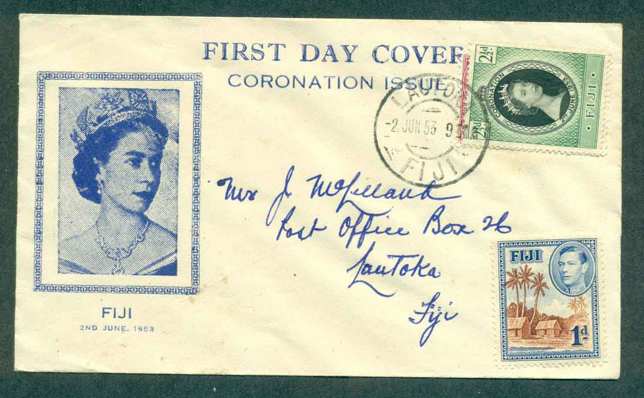 Fiji 1953 Coronation FDC lot51363