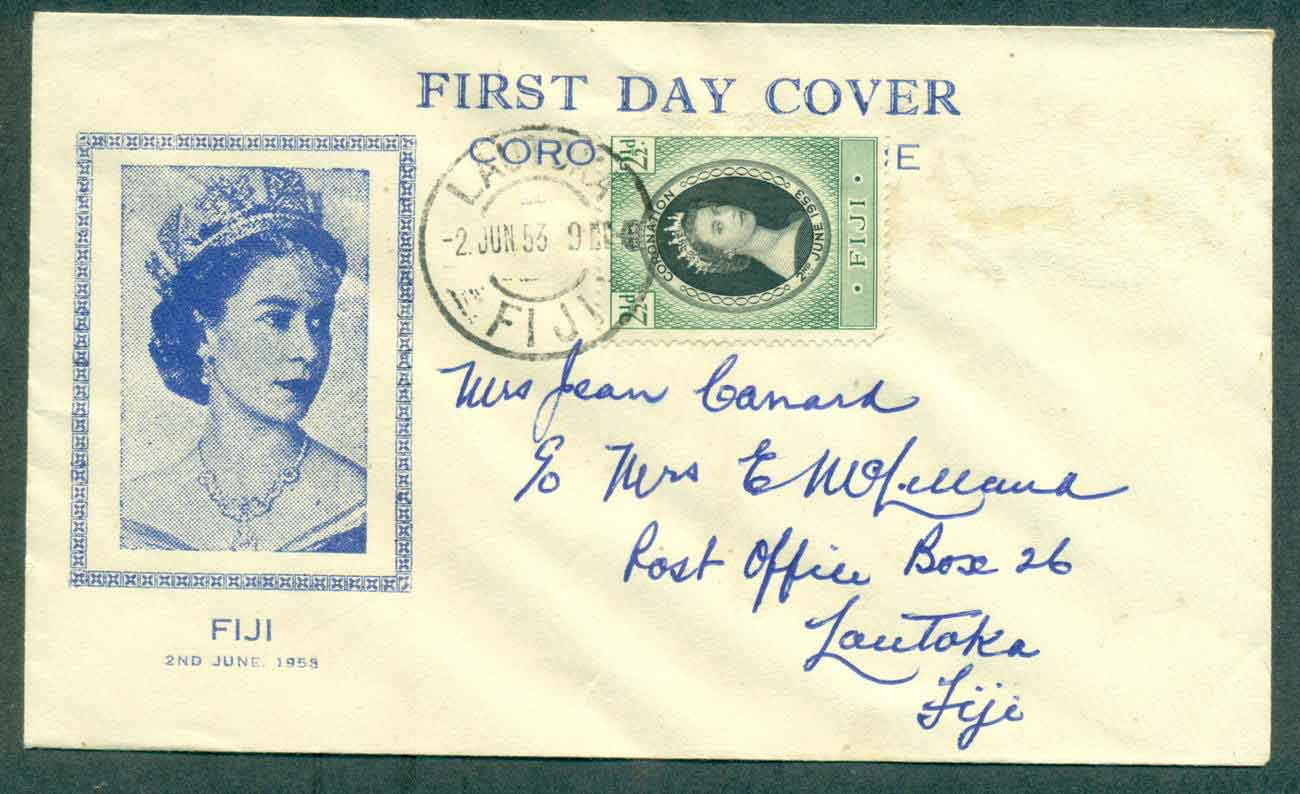 Fiji 1953 Coronation FDC lot51364