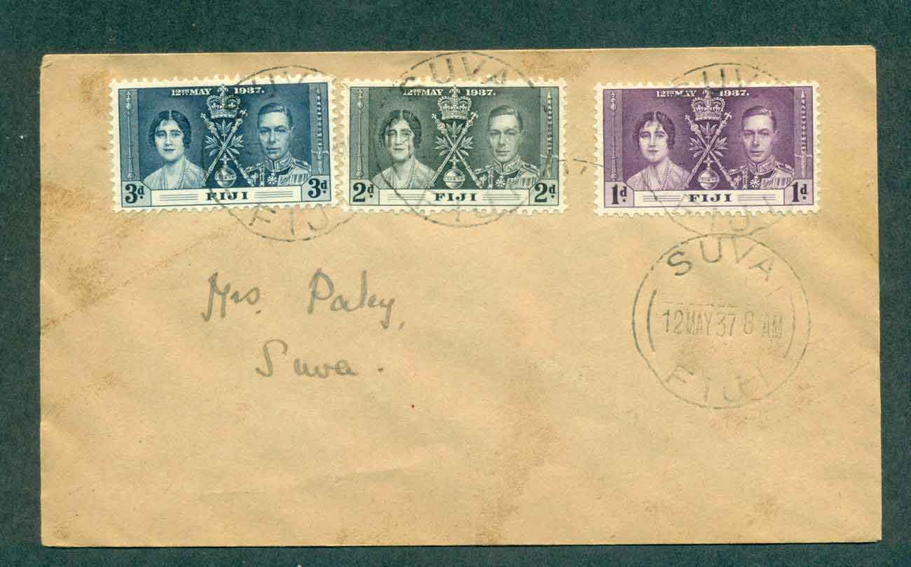 Fiji 1937 Coronation FDC lot51365