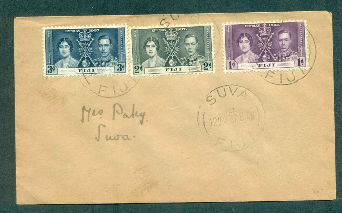 Fiji 1937 Coronation FDC lot51366