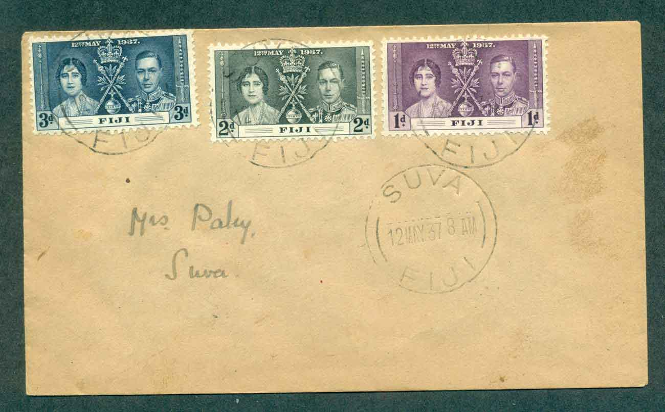 Fiji 1937 Coronation FDC lot51367
