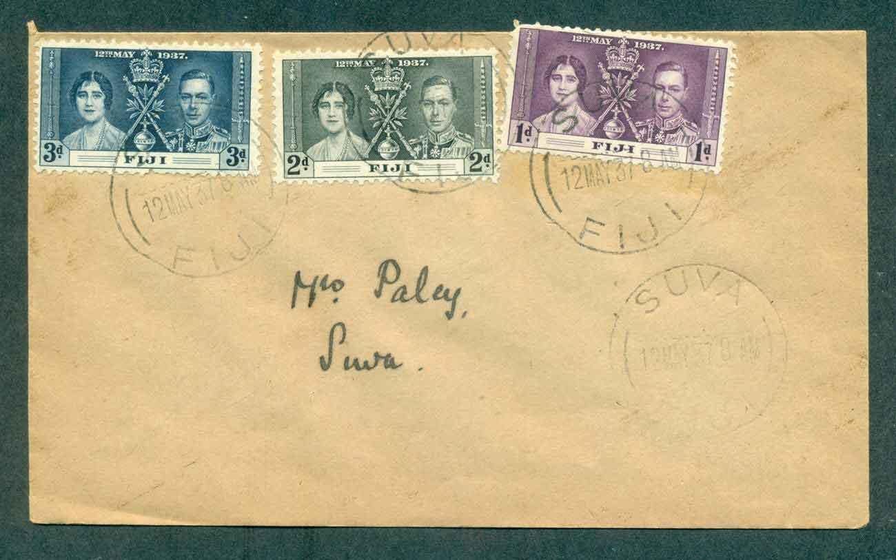 Fiji 1937 Coronation FDC lot51368