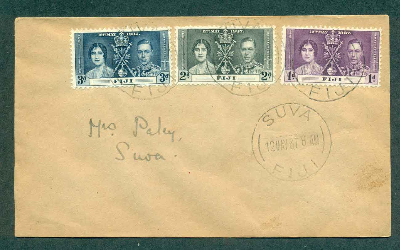 Fiji 1937 Coronation FDC lot51369