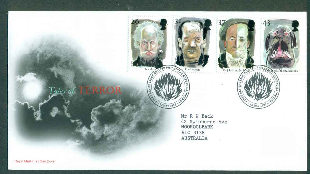 GB 1997 Tales of Terror, Edinburgh FDC lot51415